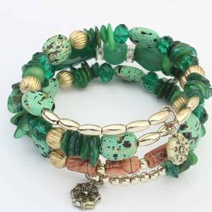 Bohemia charm bracelet multi layer